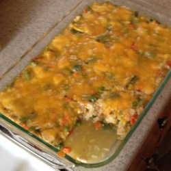 Veggie Chicken Rice Casserole Recipe