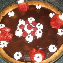Pecan Crusted Chocolate Truffle Pie Recipe