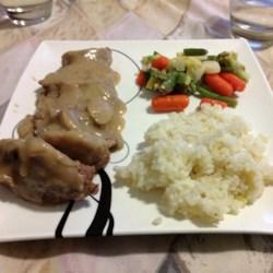 Garlic Pork Tenderloin with Mushroom Gravy