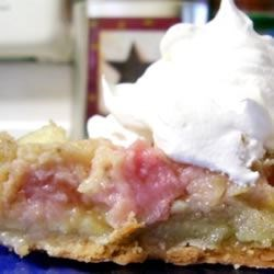 Rhubarb Custard Pie (w/Apple)