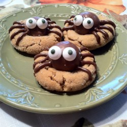 peanut butter spider cookies recipe and video turn peanut butter cookies into a fun - Funny Halloween Recipes
