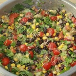 Corn and black bean salad I made for New Year's Day 2009....so good!