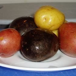 Blue, Red and Golden potatoes