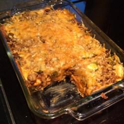 Mexican Lasagna - No Lasagna Noodles! Recipe