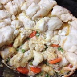 Healthier Slow Cooker Chicken and Dumplings Recipe