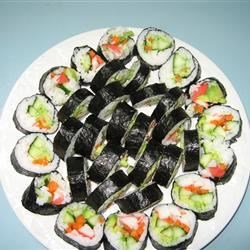 cucumber and avocado sushi photos