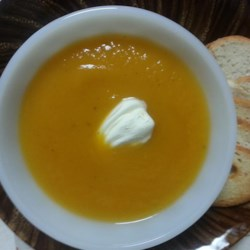 Not-Too-Sweet Sweet Potato Soup Recipe