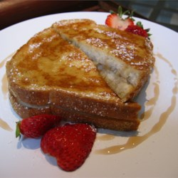 Karen's Baked Banana Stuffed French Toast Recipe