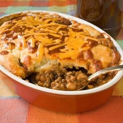 Bbq Pie Recipe Baked Barbeque Beans And Ground Beef With A Crust This Pie
