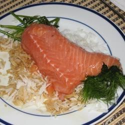 Dill Marinated Raw Salmon