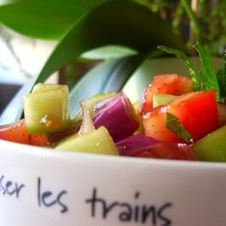 Photo of Tomato, Cucumber and Red Onion Salad with Mint by Alison
