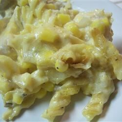 Sandy S Casserole Recipe A Chicken Casserole That Has Cheddar Cheese And Elbow Macaroni As The