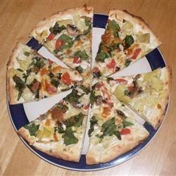 Spinach Pizza w/ Alfredo Sauce