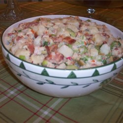 Potato Salad With Bacon, Olives, and Radishes