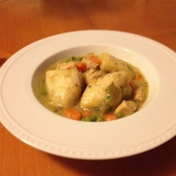 Healthier Slow Cooker Chicken and Dumplings Recipe