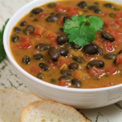 Coconut-Black Bean Soup Recipe