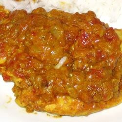 Indian Tomato Chicken - close-up