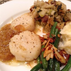 Scallops with White Wine Sauce II Recipe