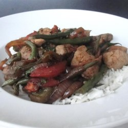 Saltado de Vainitas (Peruvian Green Beans with Chicken)