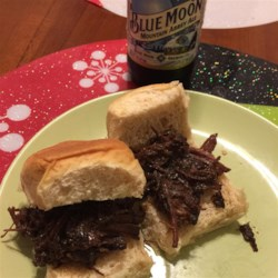 Adrienne's Overnight Barbecued Beef Sandwiches Recipe