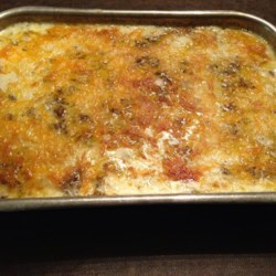Jeannie's Famous Potato Hamburger Casserole Recipe
