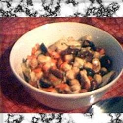 Jonny's Easy Garbonzalicious Tangy Artichoke and Bean Salad