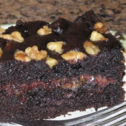 Chocolate Caramel Nut  Cake Recipe