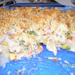 chicken veggie noddle casserole