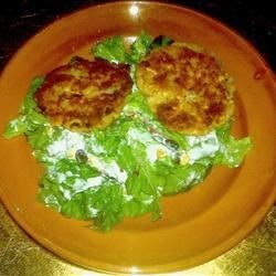 Salmon Patties with Southwestern Ranch Salad