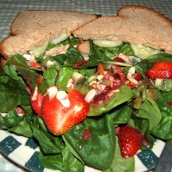 Strawberry, Kiwi,and Spinach Salad