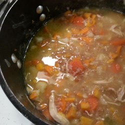 Chicken Barley Soup with Sweet Potato Recipe