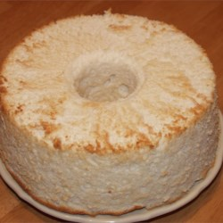 Angel Food Cake Just Cooled
