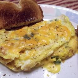 Crispy Bacon and Sweet Onion Omelet