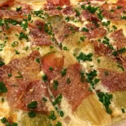 Pancetta-Wrapped Leek Gratin