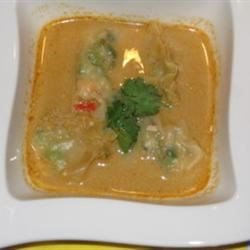 Thai Soup with Shrimp Wantans