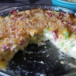Broccoli Quiche with Mashed Potato Crust Recipe