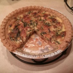 Cindy's Tuna, Spinach, and Bacon Quiche Recipe