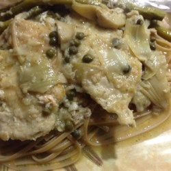 Chicken Breast Cutlets with Artichokes and Capers Recipe