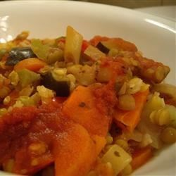 Lentil Rice and Veggie Bake Recipe