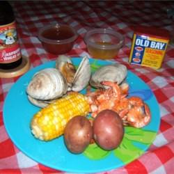 Old Bay Shrimp & Clam Boil