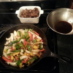 Venison Steak with Peppers and Onions Recipe
