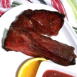 Cranberry Glazed Pork Ribs