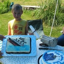 Son's Titanic birthday