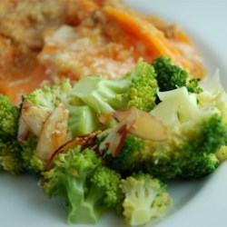 Broccoli With Lemon Almond Butter Recipe