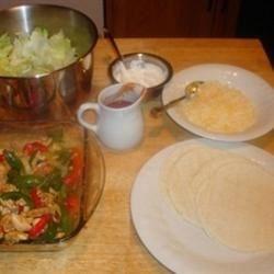 Fajita dinner