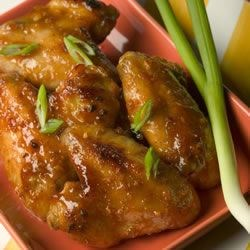 Ginger Orange Glazed Chicken Wings Recipe