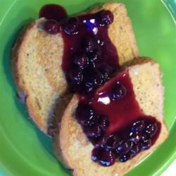 Warm Blueberry Sauce Recipe