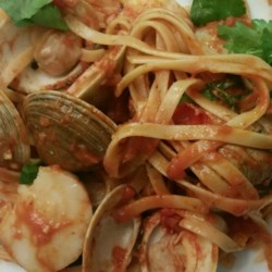 Shrimp, Clams, and Scallops Pasta Recipe