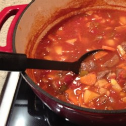 Dutch Oven Vegetable Beef Soup Recipe