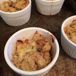 Savory Gorgonzola Bread Pudding Recipe